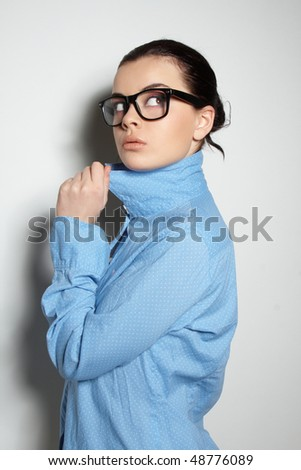 Young and serious business - stock photo