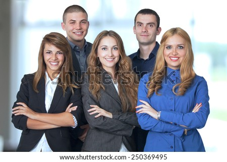 Young and successful business team