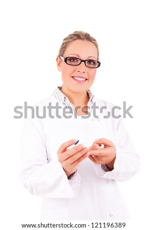 Young and successful medic posing - stock photo