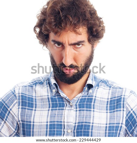 young angry man - stock photo