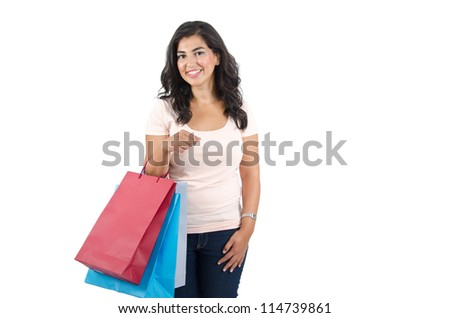 Young Arab Female Shopping