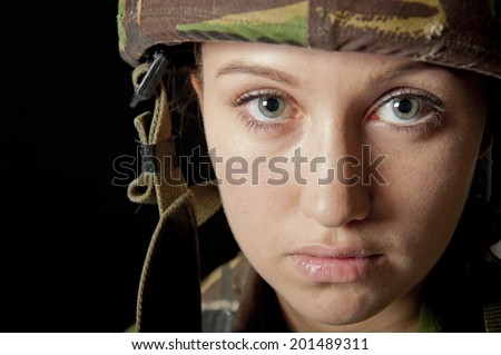 Young Army Girl - stock photo