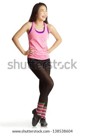 Young teen posing, blonde cheerleaders in bikinis
