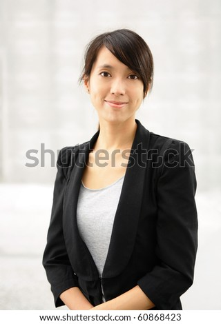 young asian business woman - stock photo