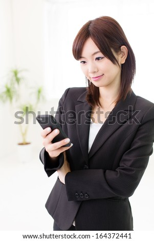 young asian businesswoman in the office - stock photo