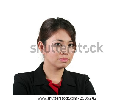 Young Asian Businesswoman Isolated