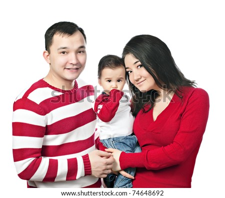 young asian family
