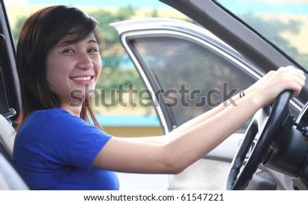 Handjob asian lady driving fuck
