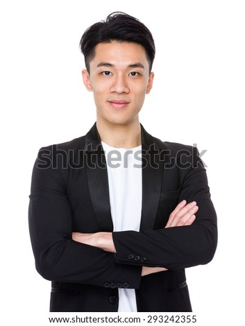 Young asian man - stock photo