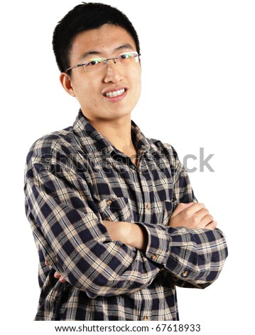 young asian man - stock photo