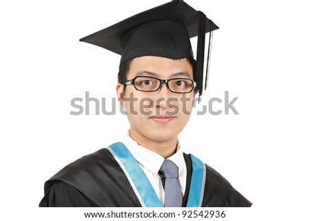 Young Asian man graduation - stock photo