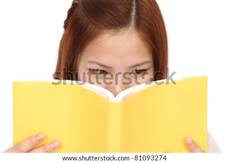 Young asian Teen?book - stock photo