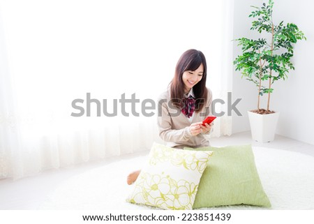 young asian woman lifestyle image - stock photo