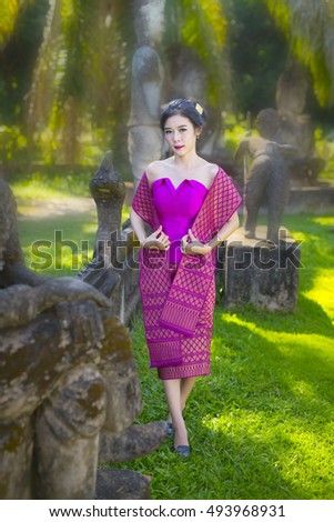 Young asian women beautiful  in Laos