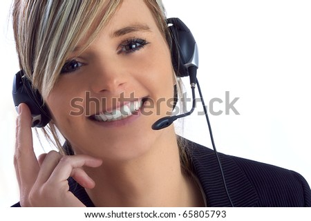 young assistant - stock photo