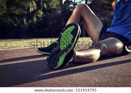 young athlete after doing a long race