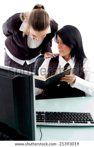 young attorney busy in office - stock photo