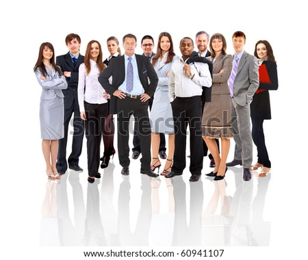 Young attractive business - stock photo