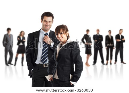 Young attractive business couple - the elite business team - check my gallery for more pictures - stock photo