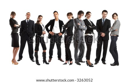 Young attractive business people - the elite business team - check my gallery for more pictures - stock photo