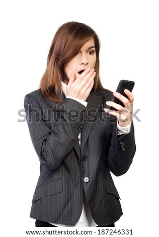 young attractive business woman with phone