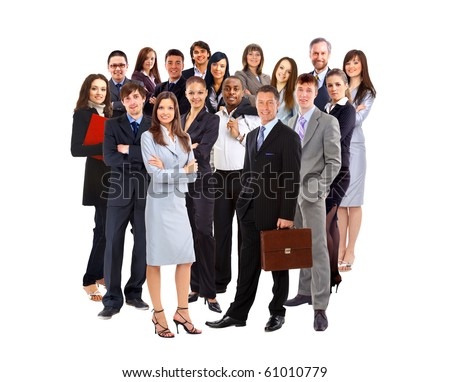 Young attractive businesspeople - stock photo