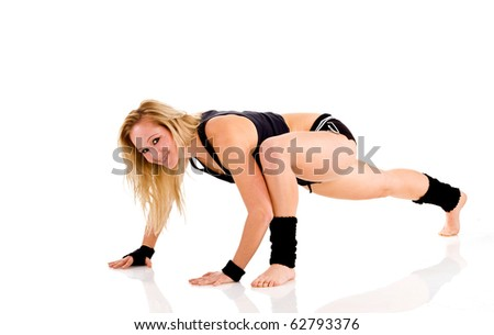Young attractive Caucasian fitness woman