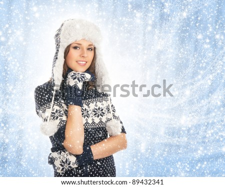 Young attractive girl in native scandinavian clothes
