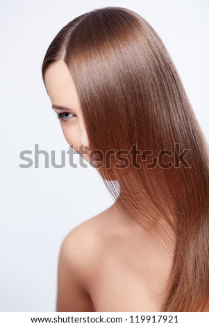 Young attractive girl on a white background - stock photo