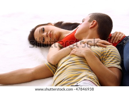 Young attractive happy - stock photo