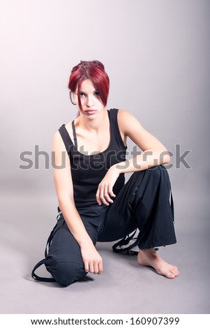 young attractive modern dancer - stock photo