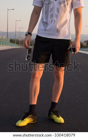 Young attractive sport man - stock photo