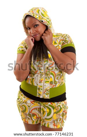 Young beautiful african american woman isolated on white background - stock photo