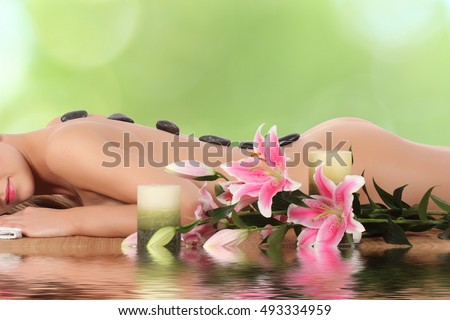 Young, beautiful and healthy woman getting spa treatment