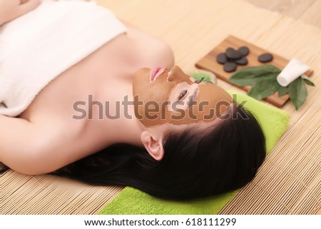 Young, beautiful and healthy woman in spa salon