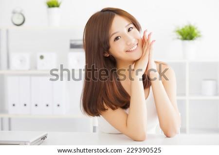 Young beautiful asian woman  - stock photo