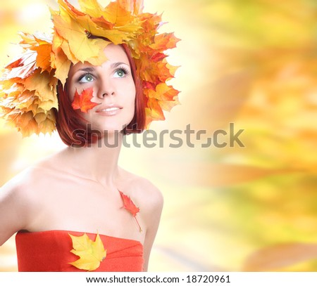 young beautiful autumn-girl