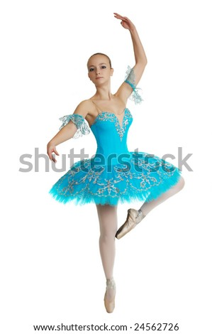 young beautiful ballerina in tutu - stock photo