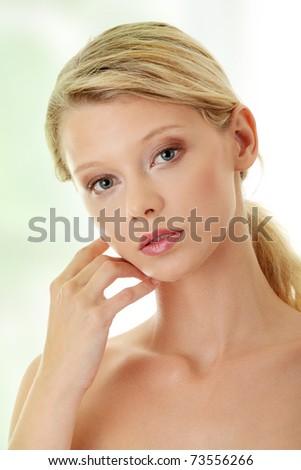 Young beautiful blond woman - stock photo