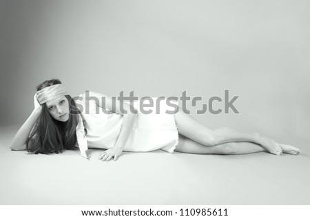 Young Beautiful Bohemian Woman - stock photo