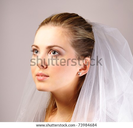 Young beautiful bride - stock photo