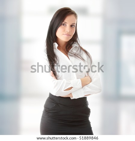 Young beautiful businesswoman
