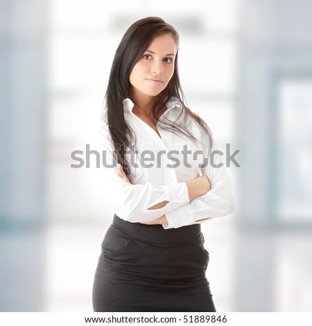 Young beautiful businesswoman - stock photo