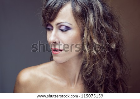 Young beautiful Caucasian blond woman Portrait of a fresh and lovely woman with flower