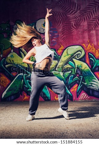 young beautiful dancer - stock photo