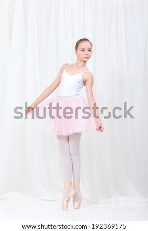 young beautiful dancer posing - stock photo