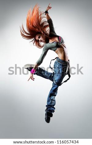 Young Beautiful Dancer Posing On Studio Stock Photo