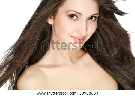 young beautiful female portrait