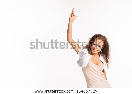 Young beautiful girl dancing modern dance