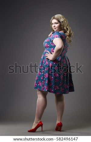 Young Beautiful Happy Blonde Plus Size Stock Photo Royalty Free